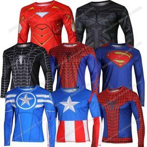 241292ae3fc9a Image is loading NEW-SUPERHERO-Super-Hero-Heroes-Long-Sleeve-Cycling-