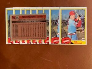 50) TED SIMMONS St. Louis Cardinals 1981 Topps Baseball Card #705 LOT