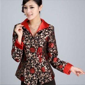 bea0b8b44 Chinese Women's silk embroidery jacket /coat Cheongsam Sz: 8 10 12 ...