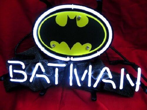 "Brand New Batman Comic Hero Art Handmade Real Glass Tube Neon Light Sign 13/""x9/"""