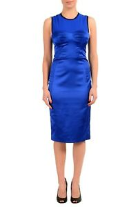 It Fodero Maniche Dsquared2 Senza 40 Usa Blu Con Vestito S Donna ZwP1wqa
