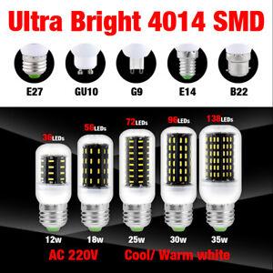 E27 E14 G9 Gu10 B22 Led Maïs Ampoule 5730smd Économie D/'Énergie Lampe Eclairage