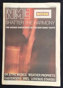 NME 21 June 1986 Sonic Youth Dr & The Medics Weather Prophets Brel