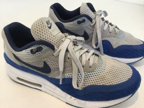 Homme Superbe Nike Air Max Baskets à lacets, bleu, blanc, gris, uk6