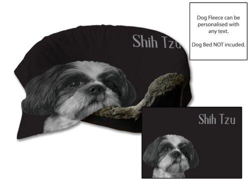 "45/""x31/"" Shih Tzu Design Dog Bed Car Blanket Soft Fleece Throw Cover Pet Animal"