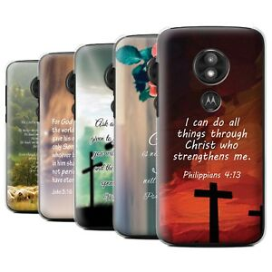 more photos 1e82d eb598 Details about STUFF4 Back Case/Cover/Skin for Motorola Moto E5  Play/Christian Bible Verse