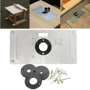 Aluminum metal sliver router table insert plate insert rings diy image is loading aluminum metal sliver router table insert plate insert greentooth Choice Image