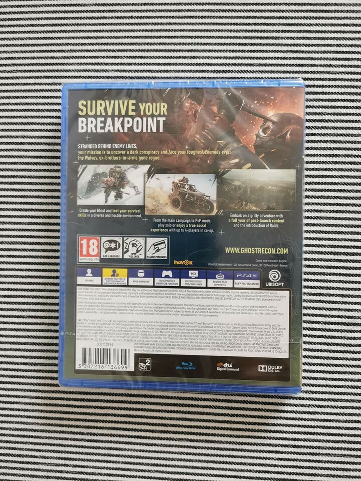 Ghost Recon: Breakpoint, PS4, FPS