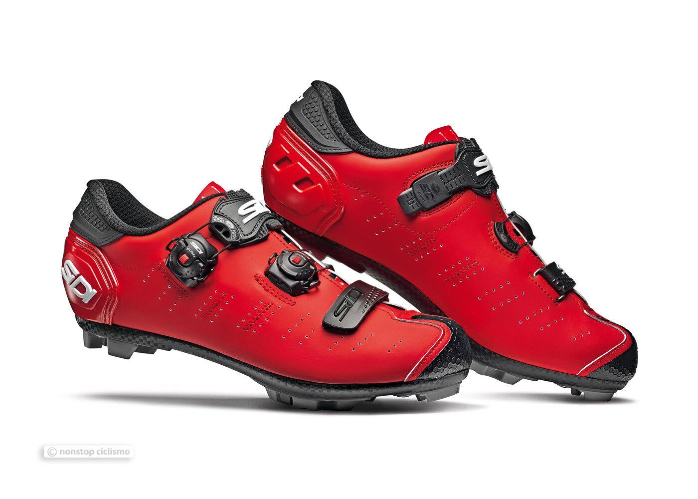 Nuevo 2019 Sidi Dragón 5 MTB Bici de Montaña Zapatos  Mate Rojo