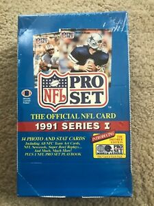 1991-PRO-SET-Series-1-NFL-Trading-Cards-Factory-Sealed-Box-36-Wax-Packs