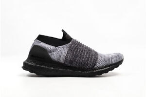 Adidas-Ultra-Boost-Laceless-Men-039-s-Running-Shoes-Black-Black-White-BB6137