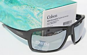 57fc950ddc Image is loading SMITH-OPTICS-Colson-POLARIZED-Sunglasses-Matte-Black- Platinum-