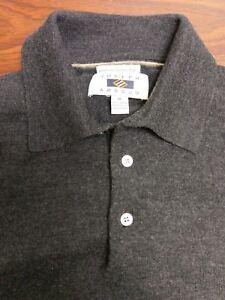 2729b7714 Joseph Abboud men s gray merino wool polo collar sweater Medium M ...