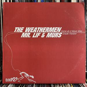 """THE WEATHERMEN - SAME AS IT NEVER WAS (12"""") 2001!!  EL-P + COPYWRITE + VAST AIRE"""