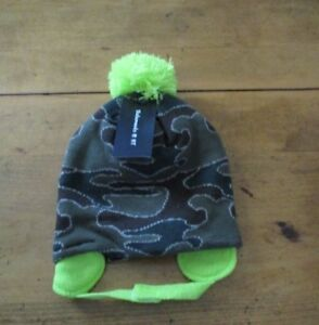 Healthtex Toddler Moose Hat /& Gloves Set NWT Camo Bottom 2T-5T Brown Mittens New