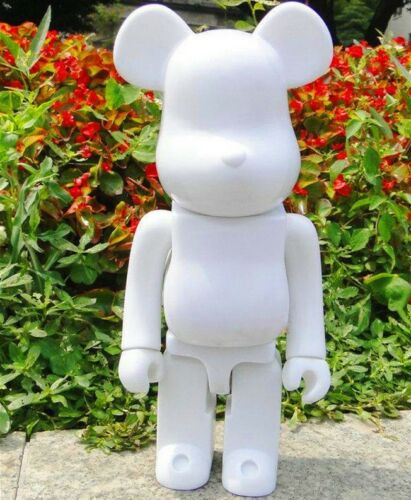 Be@rbrick Bearbrick 400/% DIY Paint Color White PVC Action Figure Toy 28CM 11/""