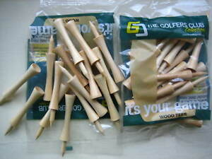 160-Tees-10-PACKS-16-LONG-REAL-WOODEN-CASTLE-STEP-LIFT-TEES-50mm-SOCIETY-GIFT