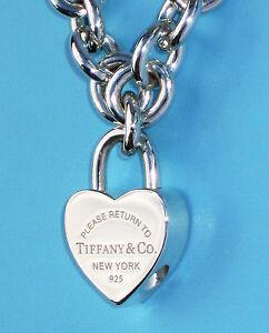 628a1d358d Tiffany & Co Return To Tiffany Heart Padlock Sterling Silver Charm ...