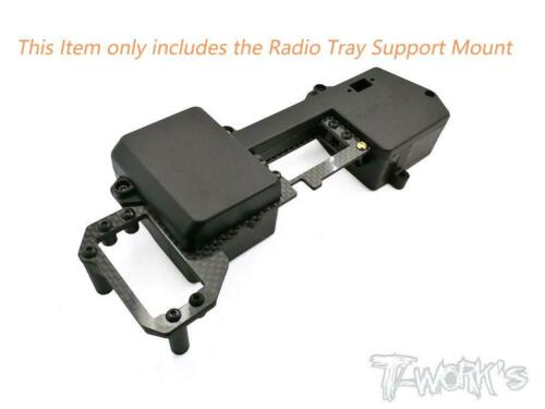 T-Work/'s 1//8 RC Car Parts Radio Tray Support Mount for HB Racing D817 D817T RGT8