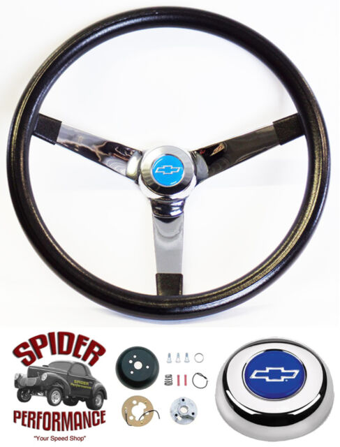 1967 Camaro Steering Wheel Red White Blue Bowtie 14 34 Vintage