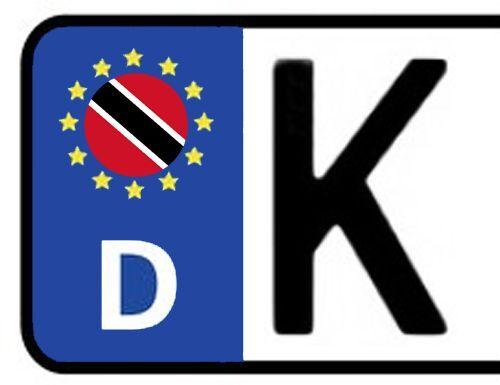 2x Kennzeichen Aufkleber Nummernschild TRINIDAD /& TOBAGO Sticker