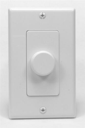 Premium Impedance Matching In Wall Volume Control with Soft Detents 50W Almond