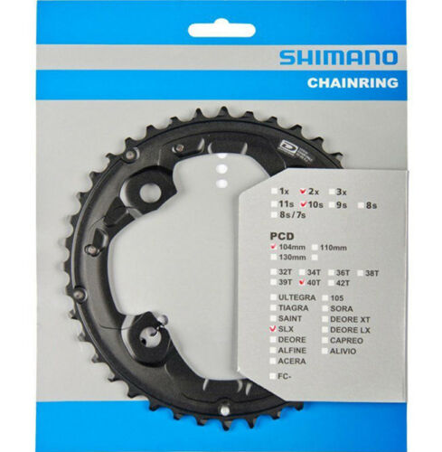 Shimano SLX FC-M675 40T Chainring 2x10-Speed Type-AJ (40-28) 104mm BCD Y1NA98040