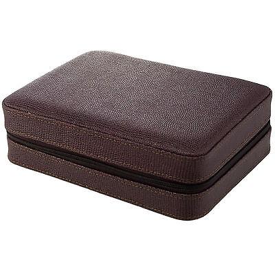 4 Watch Box Travel Case Storage Brown Leather Lizard Pattern Sale Price Ebay