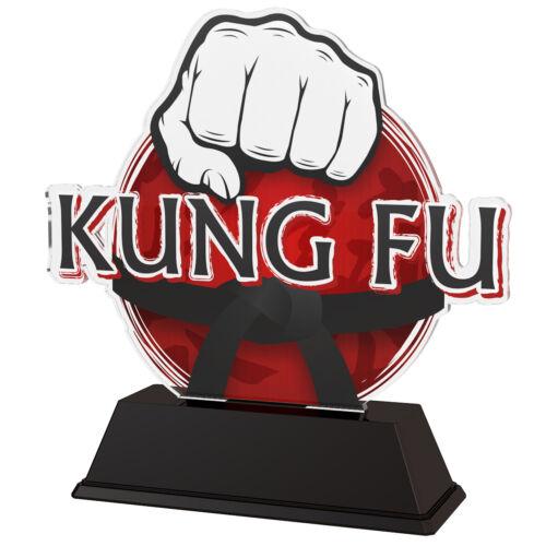 Kung Fu Arts Martiaux Trophée trophées Acrylique 100 mm Gravure Gratuite 4 Tailles *