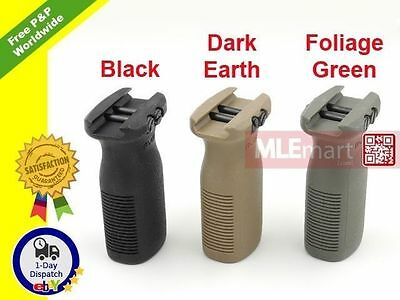 MLEmart-x Plastic Vertical Grip Forend Foregrip for Picatinny Rail RIS (Type R)