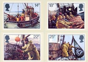 GB POSTCARDS PHQ CARDS MINT FULL SET 1981 FISHING PACK 55