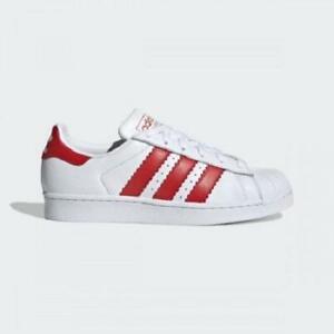 Corea lana Agrícola  Womens Adidas Superstar Trainers White/Red EE4024 | eBay