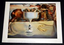 Salvador Dali Apparition Of A Face And Fruit Dish On A Beach Poster 11 x 14