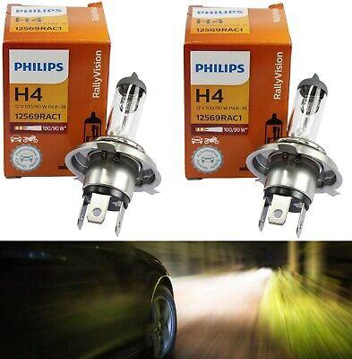 Rally 9003 HB2 H4 100//90W 5000K White Two Bulbs Head Light High Watt High Low OE
