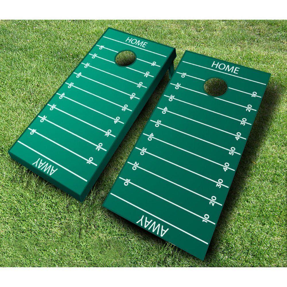 Football Field  Tournament Cornhole Set - Green & Pink Bags  no.1 online