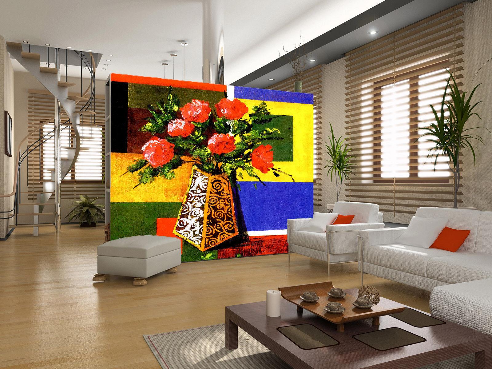 3D Rosa Rosa Rosa Bunter Hintergrund 74 Tapete Wandgemälde Tapete Tapeten Bild Familie DE | Starker Wert  | Nicht so teuer  | Sehr gute Qualität  7b2541