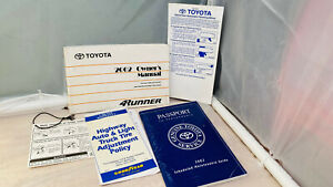 2002  TOYOTA  4RUNNER   OWNERS MANUAL  !