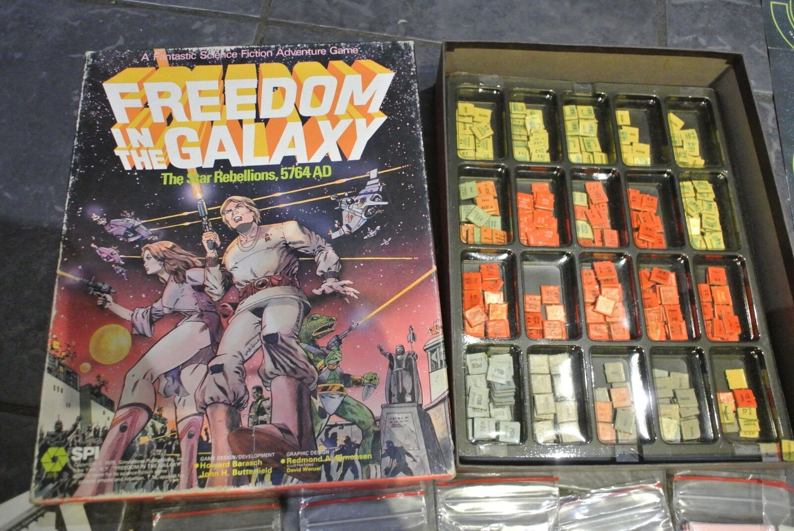 Rare Vintage SPI game FREEDOM GALAXY The Star Rebellions 5764 AD
