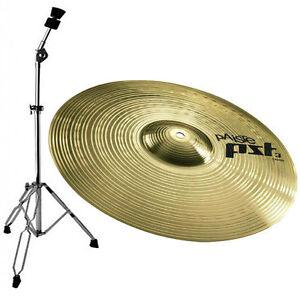 Paiste-PST3-Crash-16-034-Cymbals-Cymbal-Stand-Straight