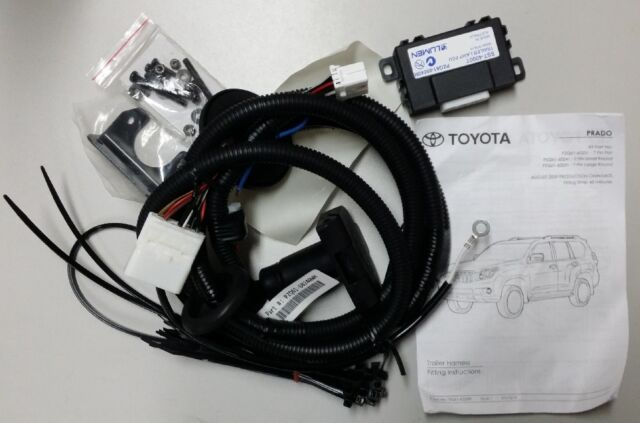 Genuine Toyota Prado Towbar Wiring Harness 7 Pin Round Aug 2013