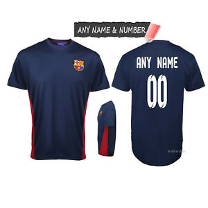 new arrival ec6df d63bf Details about PERSONALISED KIDS BARCELONA FC OFFICIAL FOOTBALL T SHIRT  GENUINE SLIM FIT TOP