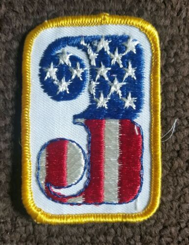 VTG 70s USA American Flag Racing Number THREE 3 Hot Rod Motorcycle Biker Patch