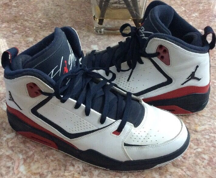 Nike Air Jordan USA Olympics London 2012 Men's White bluee shoes Sz12