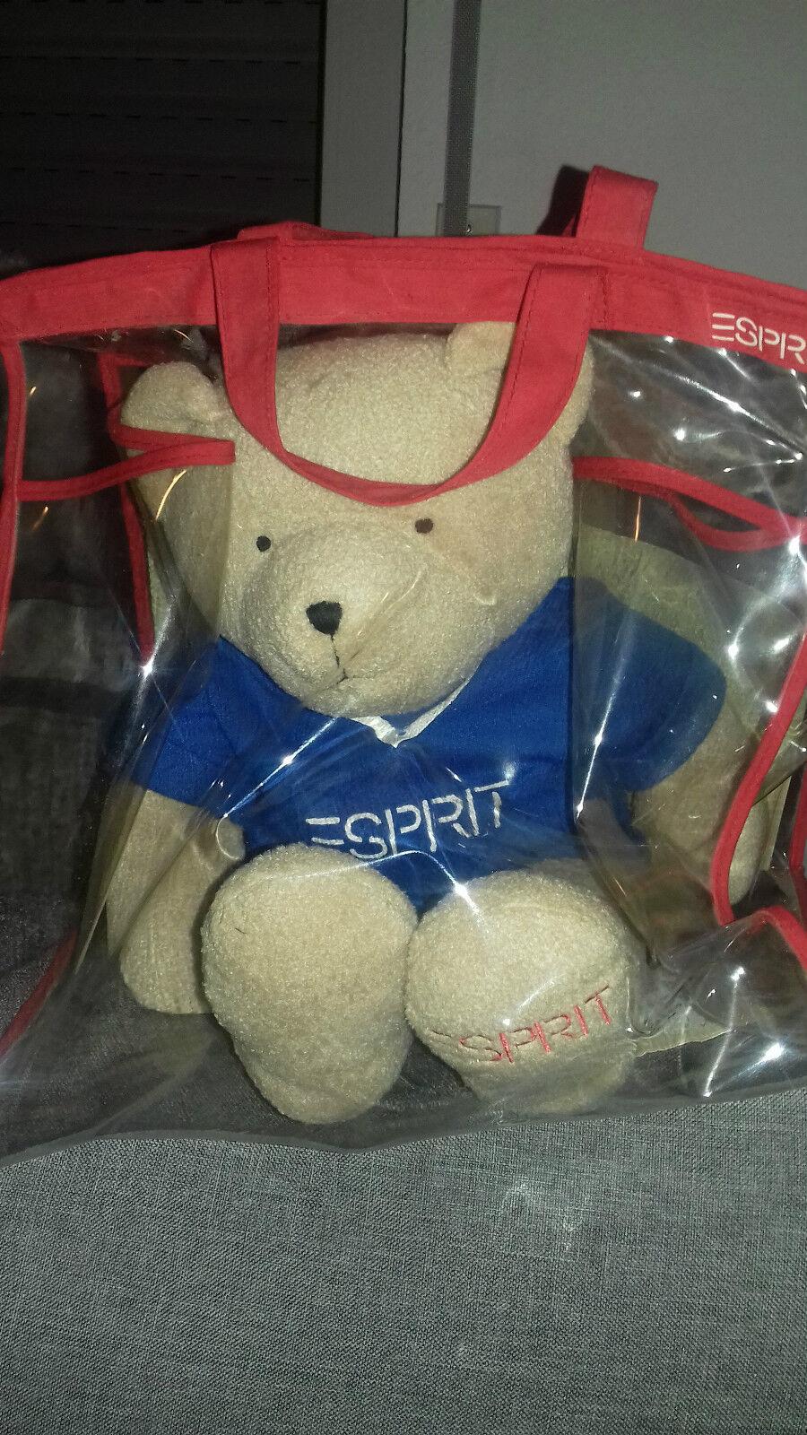 Esprit Teddy Stoff original in Tasche Limitiert     selten 1684af