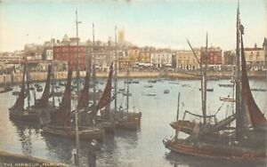 Vintage-RA-Series-Kent-Postcard-The-Harbour-Margate-AA5