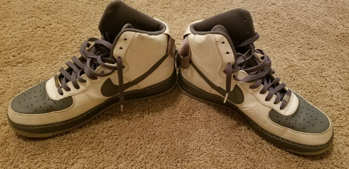 NIKE AIR FORCE 1 HIGH TOP DUNK PREMIUM  GLOW IN DARK SIZE 12 NIKEid