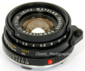 Summicron-C-1-2-40mm-F2-SHARP-Lens-LEICA-CL-LEICA-M-Voigtlander-KONICA-M-Mount
