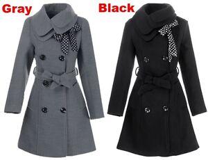 more photos 0a8d9 af9d6 Dettagli su cappotto cappottino elegante donna sciancrato grigio nero  comodo caldo moda 1215