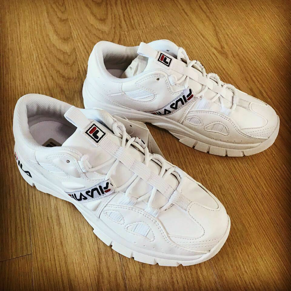FILA Hit N courir 98 Chaussures blanc Limited Edition US Taille 5-10 Track FS1HTB1061X NEUF