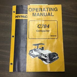hypac c784 vibratory compactor operation maintenance manual